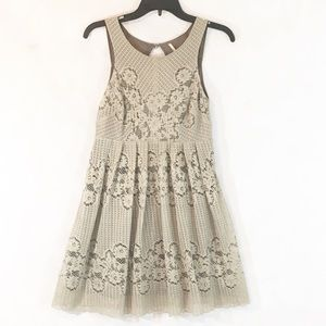 Free People Sleeveless Lace Dress Sage Green Lined